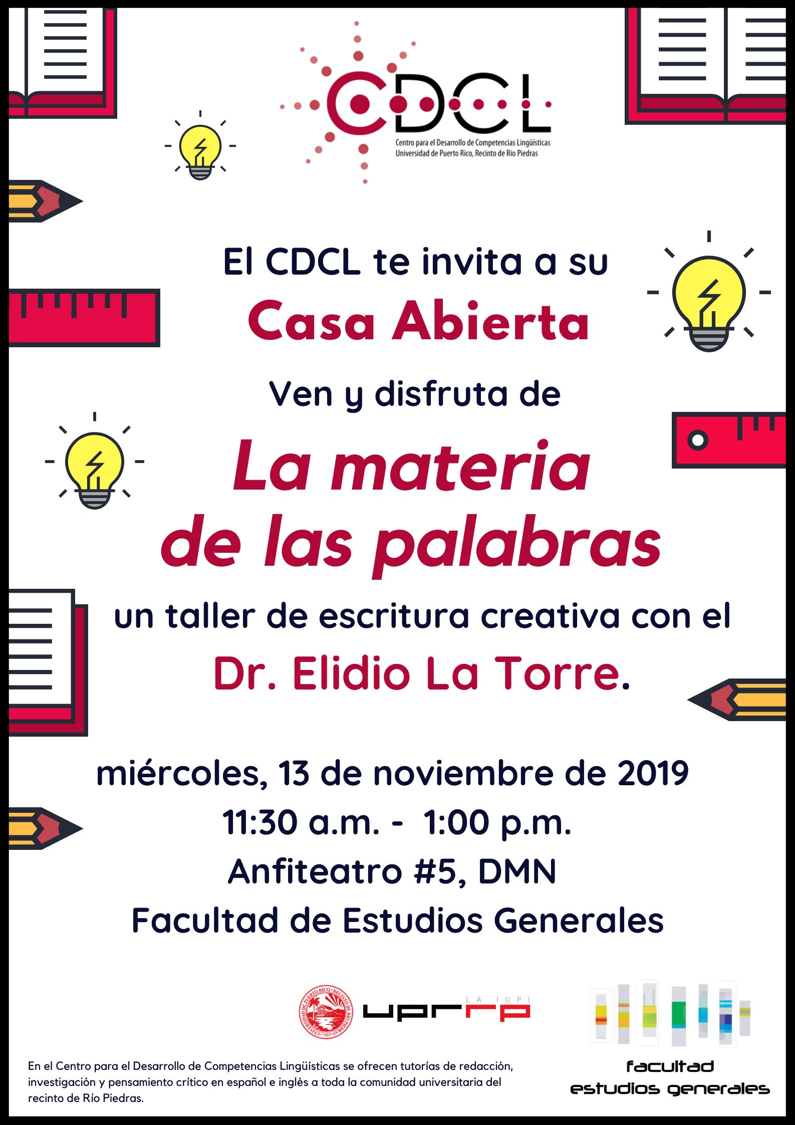 Promoción de la casa abierta del CDCL 2019