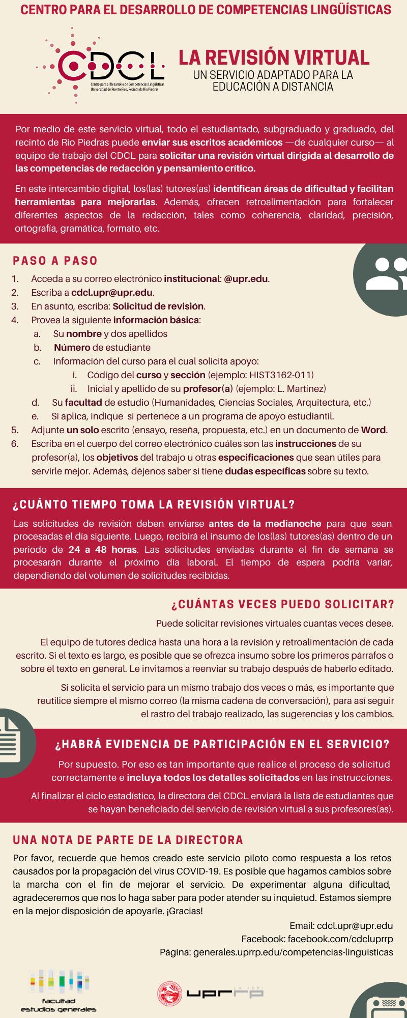 Información sobre revisión virtual